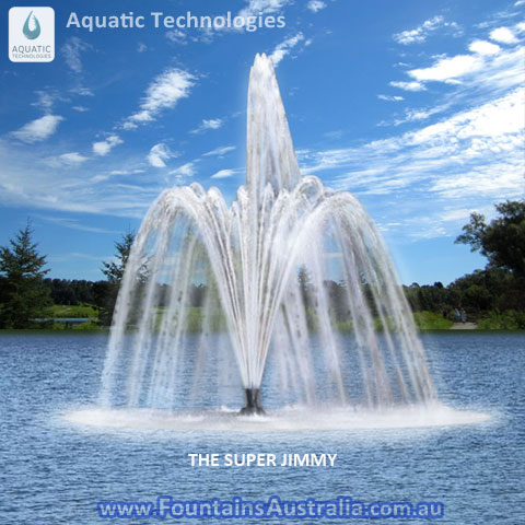 Aquatci Technologies Super Jimmy display aeration fountain